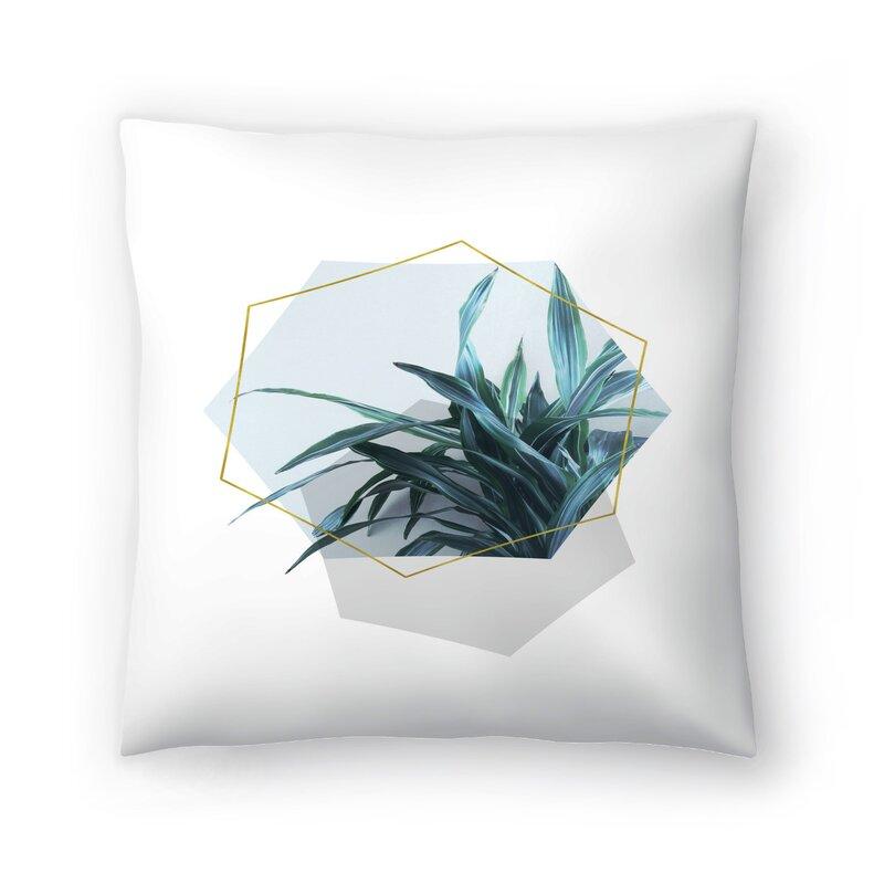 East Urban Home Leaves Geometry Throw Pillow Wayfair