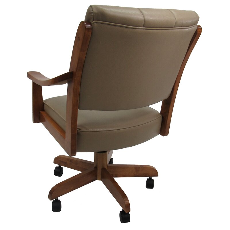 Danial Caster Upholstered Dining Chair