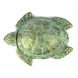 Review Cast Iron Decorative Turtle Paperweight by Handcrafted Nautical Decor