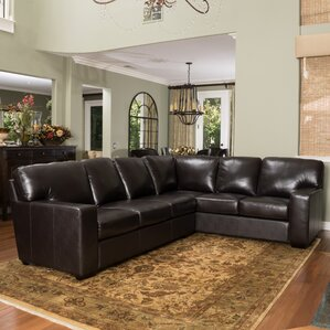 Living Room Leather Sectionals leather sectional sofas you'll love | wayfair