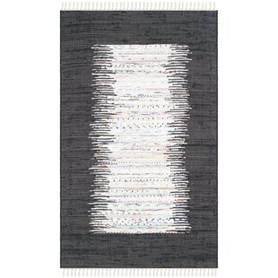Searching for Ona Hand-Woven Cotton White/Black Area Rug By Beachcrest Home