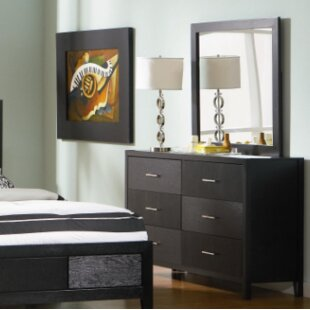 Ivy Bronx Frontenac 6 Drawer Double Dresser with Mirror Image