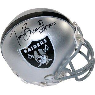 Decorative Tim Brown Signed Oakland Raiders Mini Helmet By Steiner Sports