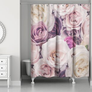 Burchard Romantic Blooms Single Shower Curtain
