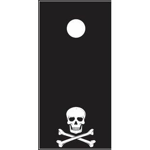 Lightning Cornhole Skull and Crossbones Cornhole Board