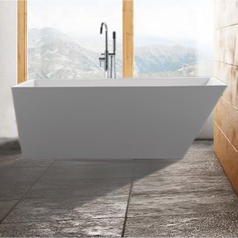 "jade bath scarlet 59"" x 31.5"" soaking bathtub & reviews   wayfair"