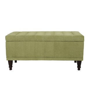 Noell Sturdy Rectangular Lift Top Tufted Storage Ottoman