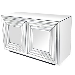 Brogel 2 Door Mirrored Accent cabinet