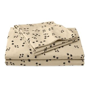 Plow & Hearth Paw Print 200 Thread Count 100% Cotton Sheet Set