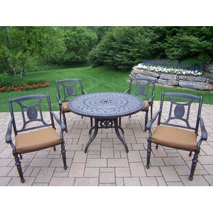 Oakland Living Victoria 5 Piece Dining Set with Cushions