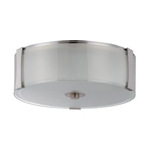 Latitude Run Henkle 3-Light Flush Mount