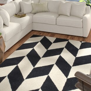 white and black rug carpet tilley handtufted blackwhite indoor area rug modern black rugs allmodern