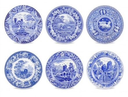 """Blue Room 11.5"""" Traditions Plate Set"""