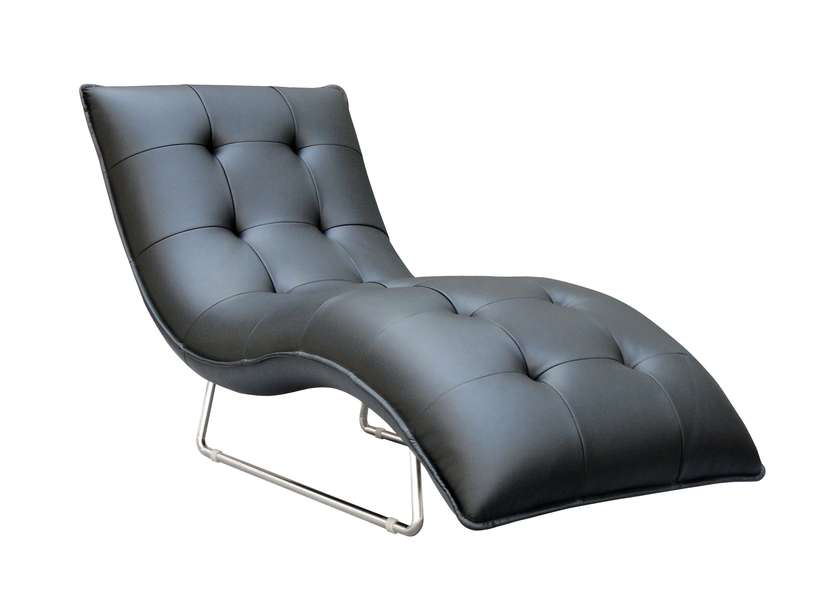 Wade logan alsatia leather chaise lounge wayfair