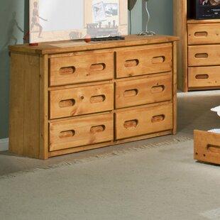 Reviews Eldon 6 Drawer Double Dresser ByHarriet Bee