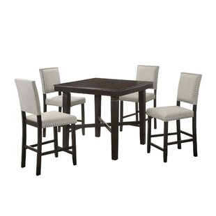 Harlingen 5 Piece Pub Table Set by Alcott Hill