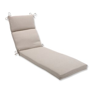 Solid Outdoor Chaise Lounge Cushion