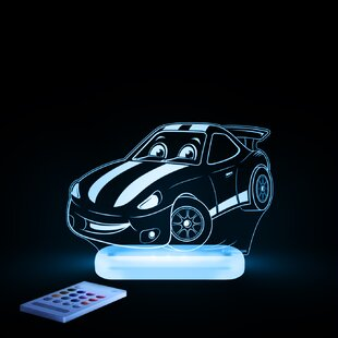 Lumenico Aloka Starlight Race Car LED 3-Light Night Light with Remote Control