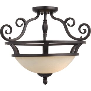Amelia 2-Light Semi-Flush Mount by Darby Home Co