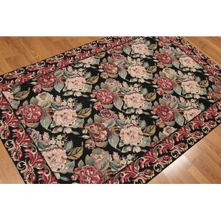 One-of-a-Kind Gehlert Persian Hand-Woven Wool Black/Burgundy Area Rug ByAugust Grove