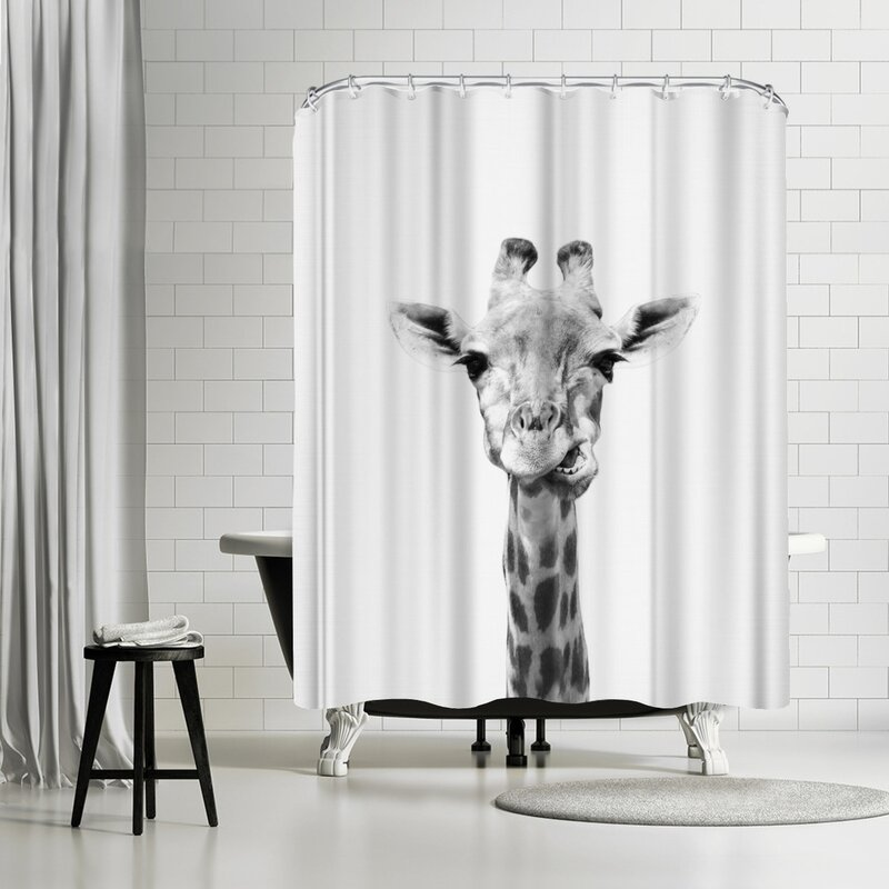 East Urban Home Sisi And Seb Giraffe Single Shower Curtain Wayfair