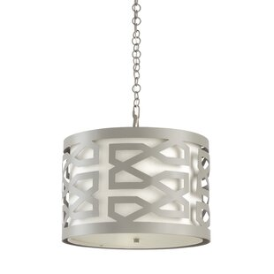 Wildwood China Lattice 3-Light Drum Chand..