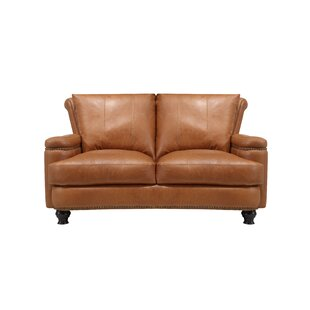 Deakin Leather Loveseat by Canora Grey Best Design