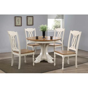 Alisha 5 Piece Solid Wood Dining Set