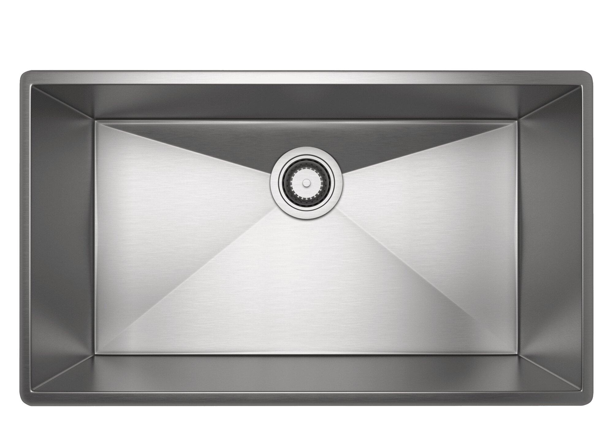 Rohl Forze 27 Single Bowl Stainless Steel Kitchen Sink Wayfair