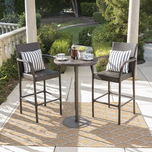Gentil Waldhaus 3 Piece Bar Height Dining Set