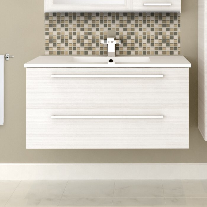 Cutler Kitchen Bath Silhouette 36 Wall Mounted Single Bathroom
