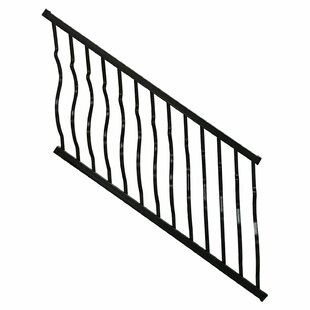 Aluminum Curved Baluster Stair Railing Kit