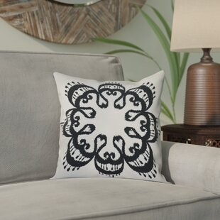 Meetinghouse Ikat Mandala Geometric Print Throw Pillow