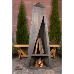 Night Torch Steel Wood Burning Outdoor Fireplace