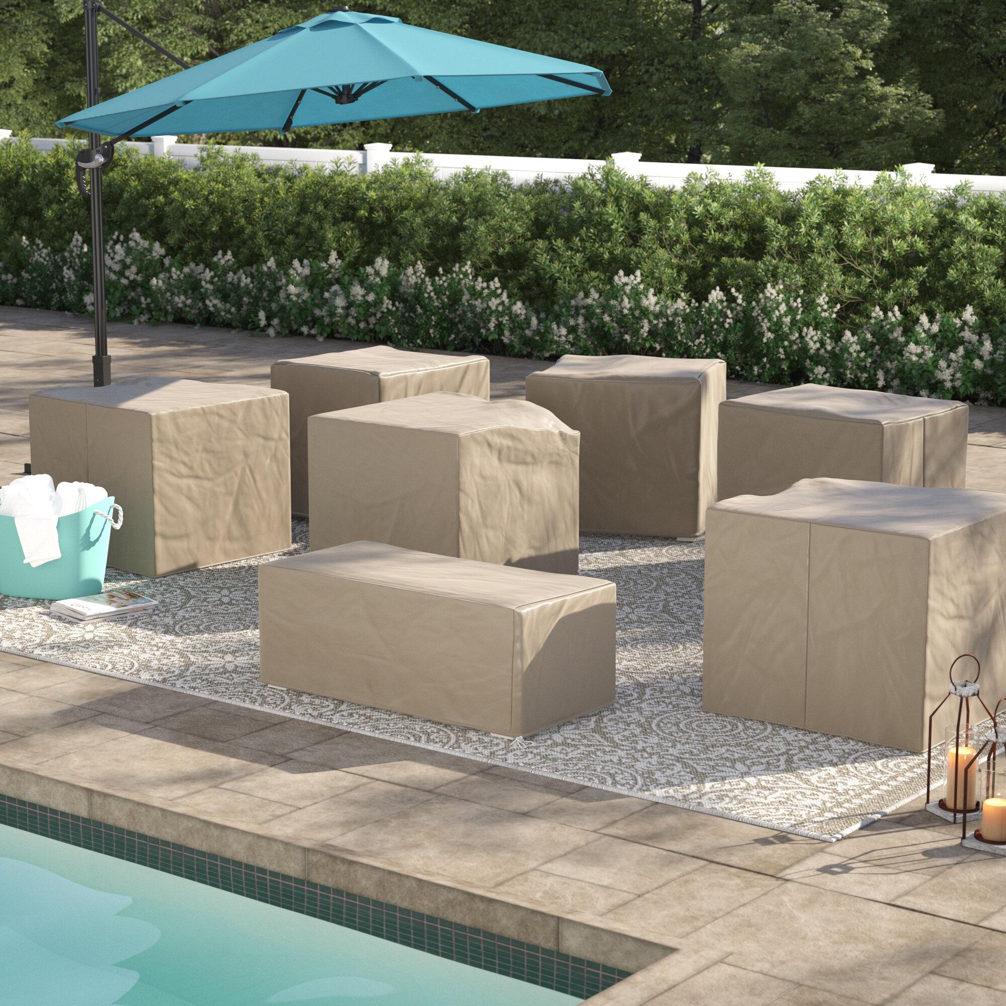 Sol 72 Outdoor Tegan Water Resistant 7 Piece Patio Sofa Cover Set | Wayfair