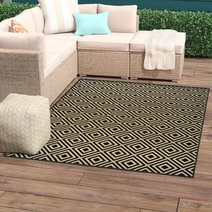 Lipson Diamond Lattice Black/Beige Indoor/Outdoor Area Rug