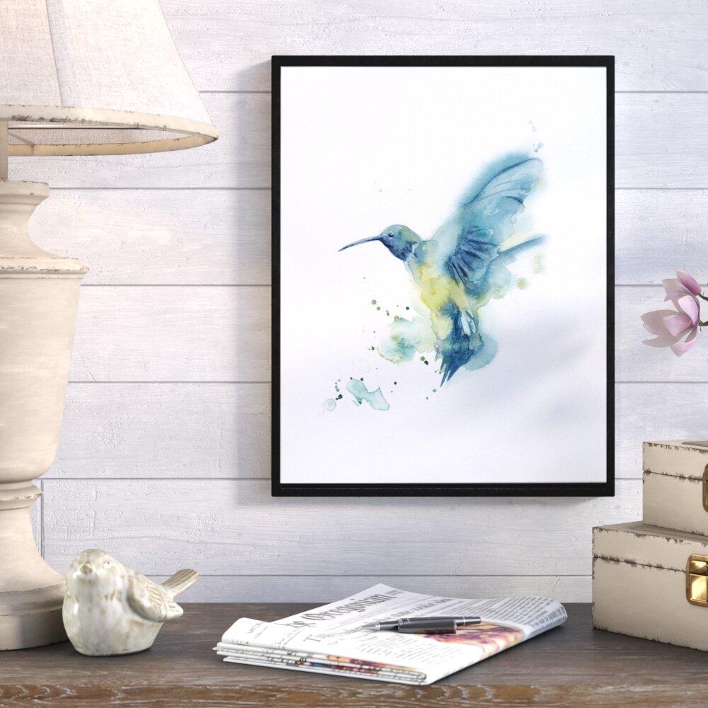 Mistana Hummingbird Framed Print On Canvas Wayfair