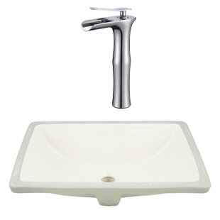 Read Reviews CSA Ceramic Rectangular Undermount Bathroom Sink with Faucet and Overflow By Royal Purple Bath Kitchen