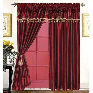 Valorie Luxury Rod Pocket Window Curtain Panels (Set of 2) by Astoria Grand