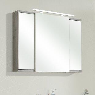 Fresh Line Grey 100 X 75cm Mirrored Bathroom Cabinet By Quickset