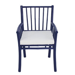 Platani Bamboo Patio Dining Chair with Cushion