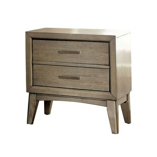 Affordable Price Kardos 2 Drawer Nightstand by Mercer41