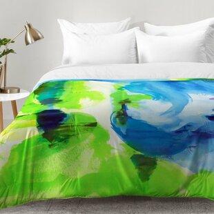 East Urban Home Shot Of Lime Comforter Set