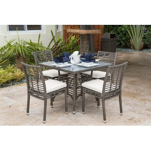 5 Piece Dining Set with Sunbrella Cushions by Panama Jack Outdoor