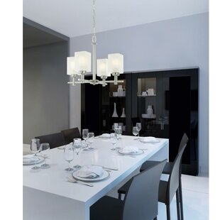 Vernell 4-Light Shaded Chandelier by Ebern Designs