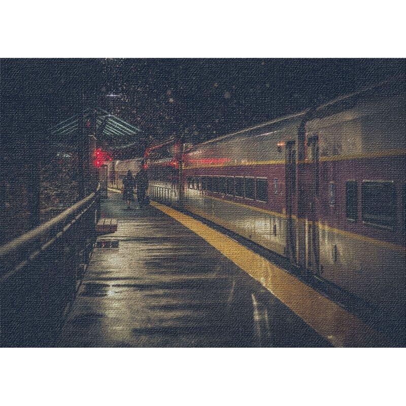 East Urban Home Train Experience Black Area Rug Wayfair