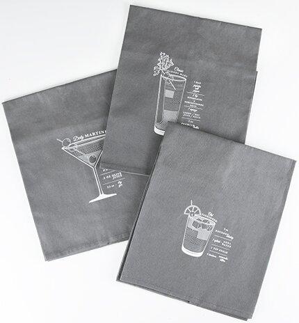 Admiral 3 Piece Bar Cart Cocktail Towel Set Joss Main