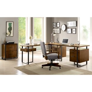 Mistana Lexus 2 Piece L-Shape Desk Office Suite