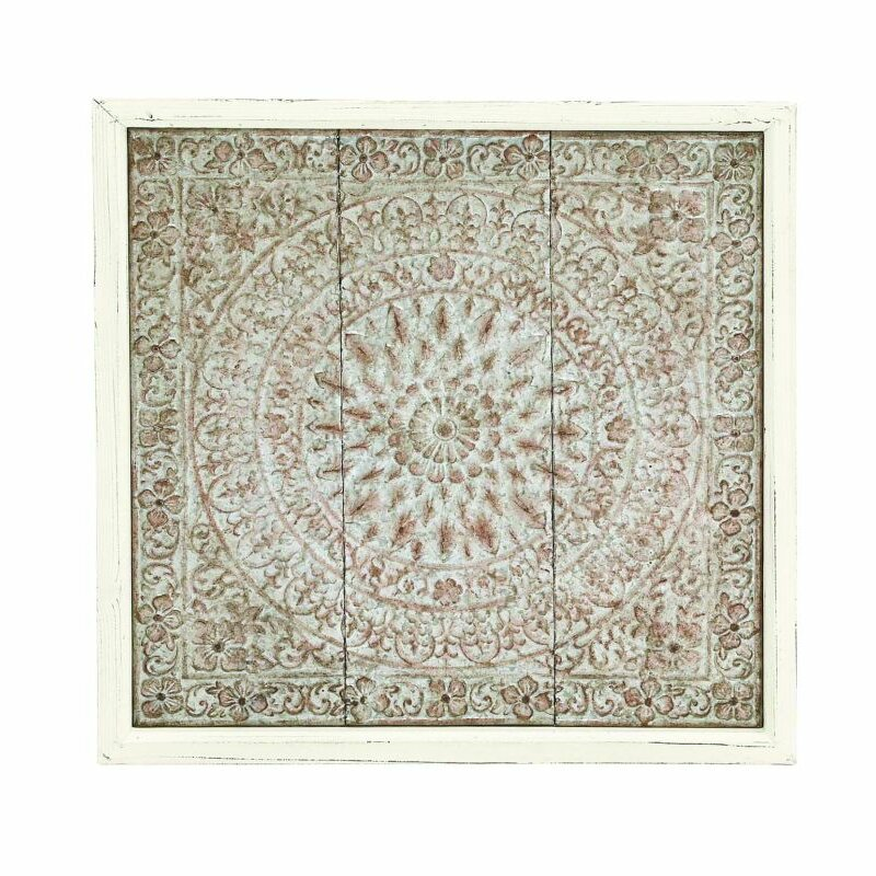 Wood Medallion Wall Decor mistana medallion metal wood wall décor & reviews | wayfair