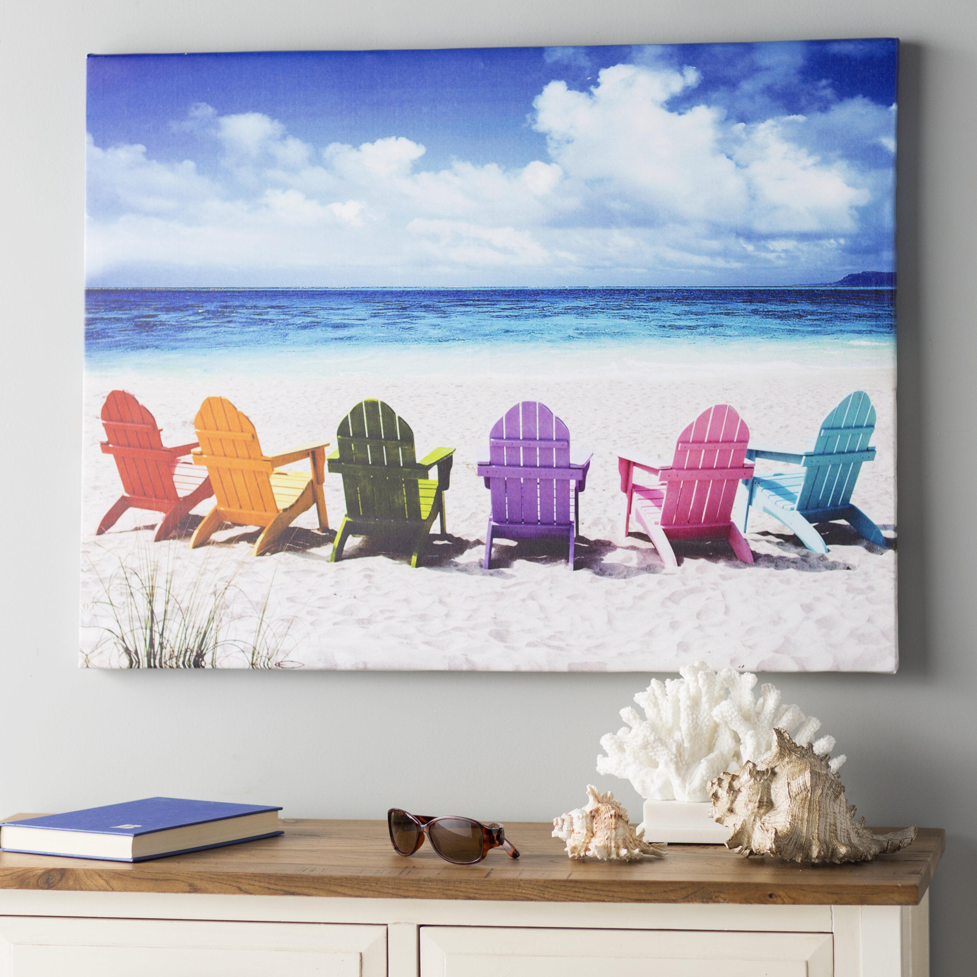 Beachcrest Home U0027Peekskill Beach Chairsu0027 Photographic Print On Wrapped  Canvas U0026 Reviews   Wayfair